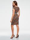 Платье трикотажное с ремнем oodji #SECTION_NAME# (разноцветный), 24008033-2/16300/4529G - вид 3