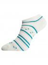 Носки укороченные (комплект из 6 пар) oodji #SECTION_NAME# (разноцветный), 57102462T6/47213/19BHG - вид 3
