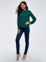 Блузка базовая из вискозы oodji для женщины (зеленый), 11411136B/26346/6E02N