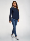 Блузка хлопковая с нагрудным карманом oodji #SECTION_NAME# (синий), 13K03017/26357/7910B - вид 6