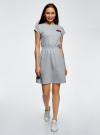 Платье с резинкой на талии oodji #SECTION_NAME# (серый), 14008021-1/46155/2300Z - вид 2