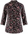 Блузка вискозная с регулировкой длины рукава oodji #SECTION_NAME# (черный), 11403225-2B/26346/2923F
