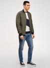 Куртка стеганая с резинками на манжетах и воротнике oodji #SECTION_NAME# (зеленый), 1L111021M/46344N/6600N - вид 6