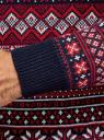 Джемпер жаккардовый со скандинавским рисунком oodji для мужчины (красный), 4L105069M/25365N/4579J