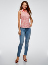Рубашка базовая без рукавов oodji для женщины (красный), 11405063-4B/45510/124CE