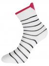 Комплект из трех пар хлопковых носков oodji для женщины (белый), 57102802-3T3/47613/31
