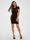 Платье из фактурной ткани с вырезом-лодочкой oodji #SECTION_NAME# (черный), 14001117-11B/45211/2900N - вид 2