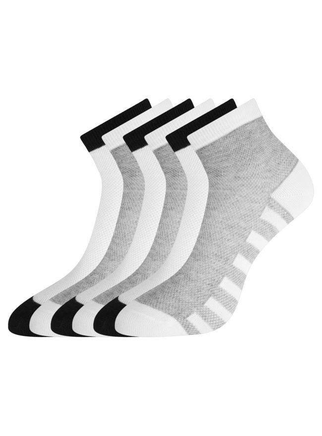 Комплект хлопковых носков (6 пар) oodji #SECTION_NAME# (разноцветный), 57102711T6/48022/10