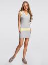 Платье с капюшоном oodji для женщины (серый), 14005054-3/45820/2050M