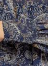 Платье шифоновое с асимметричным низом oodji #SECTION_NAME# (синий), 11913032/38375/7933E - вид 5