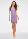 Платье из фактурной ткани с вырезом-лодочкой oodji #SECTION_NAME# (фиолетовый), 14001117-11B/45211/8000N - вид 2