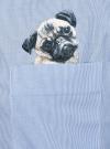 Рубашка oversize с вышивкой oodji #SECTION_NAME# (синий), 13K11004-1/45387/1070S - вид 5