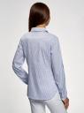 Рубашка принтованная с карманами oodji #SECTION_NAME# (синий), 13K03002-2B/45202/1070O - вид 3