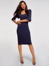 Платье облегающего силуэта с воланами на рукавах oodji #SECTION_NAME# (фиолетовый), 63912224/47002/8800N - вид 2