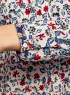 Блузка принтованная из легкого хлопка oodji #SECTION_NAME# (разноцветный), 21411144-5M/12836/1219E - вид 5