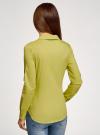 Рубашка базовая с нагрудными карманами oodji #SECTION_NAME# (зеленый), 11403222B/42468/6A01N - вид 3