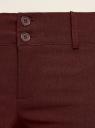 Брюки стретч узкие oodji для женщины (коричневый), 11700212B/14007/4900N