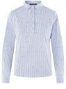 Рубашка принтованная с карманами oodji #SECTION_NAME# (синий), 13K03002-2B/45202/1070O