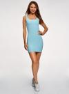 Платье-майка трикотажное облегающее oodji #SECTION_NAME# (синий), 14001210/48152/7000N - вид 2