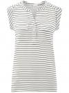 Блузка вискозная с нагрудными карманами oodji #SECTION_NAME# (белый), 21412132-5B/24681/1279S
