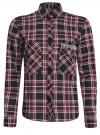 Рубашка в клетку с нагрудными карманами и декором из страз oodji #SECTION_NAME# (красный), 11411052-3/45772/294CC