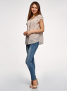 Блузка свободного силуэта с бантом oodji #SECTION_NAME# (розовый), 11411154-1B/24681/5475F - вид 6