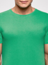 Футболка базовая прямого силуэта oodji #SECTION_NAME# (зеленый), 5B611003M/44135N/6500N - вид 4