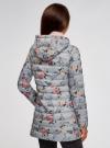 Куртка удлиненная с капюшоном oodji #SECTION_NAME# (серый), 10204058-1B/46708/234BF - вид 3