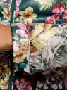 Куртка стеганая с круглым вырезом oodji #SECTION_NAME# (зеленый), 10203072B/42257/6955F - вид 5