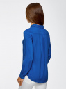 Блузка базовая из вискозы oodji #SECTION_NAME# (синий), 11411136B/26346/7501N - вид 3