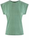 Футболка хлопковая принтованная oodji для женщины (зеленый), 14707001-20/46154/6E12G