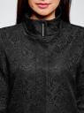 Пальто прямого силуэта из фактурной ткани oodji #SECTION_NAME# (черный), 10104043/43312/2900N - вид 4