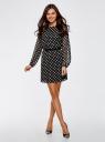 Платье из шифона с ремнем oodji #SECTION_NAME# (черный), 11900150-5/13632/2912D - вид 2