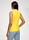 Топ хлопковый из ткани пике oodji #SECTION_NAME# (желтый), 19305001/46149/5100N - вид 3