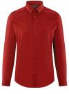 Рубашка базовая приталенная oodji для мужчины (красный), 3B140000M/34146N/4C00N