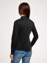Блузка хлопковая с баской oodji #SECTION_NAME# (черный), 13K00001-1B/42083/2900N - вид 3