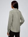 Блузка базовая из вискозы oodji #SECTION_NAME# (серый), 11411136B/26346/2301N - вид 3