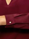 Блузка с вырезом-капелькой и металлическим декором oodji #SECTION_NAME# (красный), 21400396/38580/4900N - вид 5