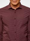 Рубашка принтованная с длинным рукавом oodji #SECTION_NAME# (красный), 3L310137M/19370N/4930G - вид 4