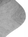 Комплект укороченных носков (3 пары) oodji для женщины (серый), 57102604T3/48022/2