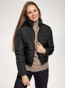 Куртка утепленная с высоким воротом oodji для женщины (черный), 10203083-2/45928/2900N