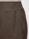 Юбка короткая с карманами oodji #SECTION_NAME# (коричневый), 11605056-3/45839/2931C - вид 4