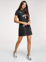 Платье трикотажное свободного силуэта oodji #SECTION_NAME# (черный), 14000162-10/46155/2919P - вид 6