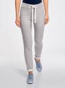 Комплект спортивных брюк (2 пары) oodji #SECTION_NAME# (серый), 16701010T2/46980/2369N - вид 2