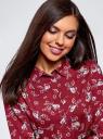 Блузка базовая из вискозы oodji #SECTION_NAME# (красный), 11411136B/26346/3112F - вид 4