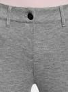 Брюки трикотажные зауженные oodji для женщины (серый), 18600029/16564/2500M - вид 4