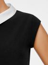 Платье без рукавов с воротничком oodji #SECTION_NAME# (черный), 11911006/42354/2900N - вид 5