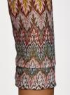 Футболка из ажурной ткани с рукавом 3/4 oodji #SECTION_NAME# (коричневый), 14801021-9B/45509/8030E - вид 5