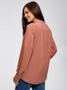 Блузка вискозная А-образного силуэта oodji #SECTION_NAME# (розовый), 21411113B/42540/4B02N - вид 3
