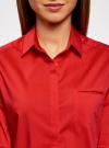 Рубашка базовая с одним карманом oodji #SECTION_NAME# (красный), 11406013/18693/4500N - вид 4